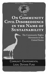 On Community Civil Disobedience in the Name of Sustainability: The Community Rights Movement in the United States